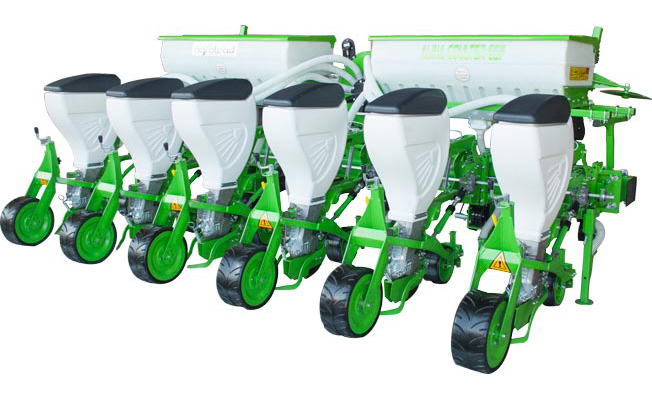Alina Pneumatic Seed Drill Shifted Rows Coulter Type